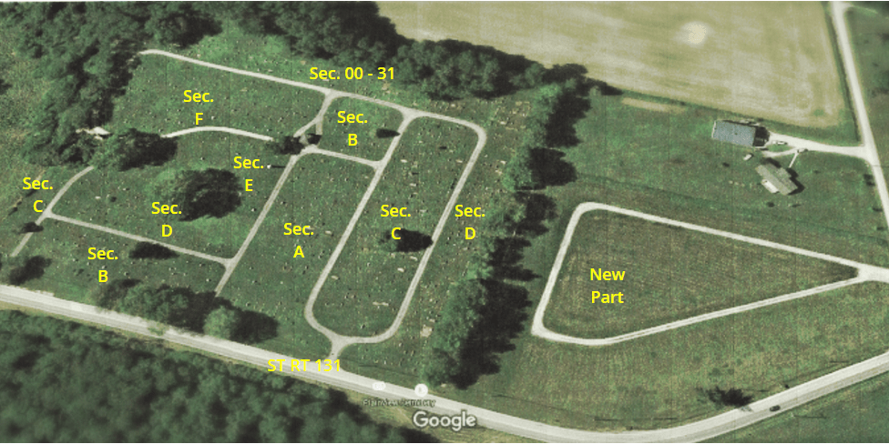 Arial View of Plainview Cemetery